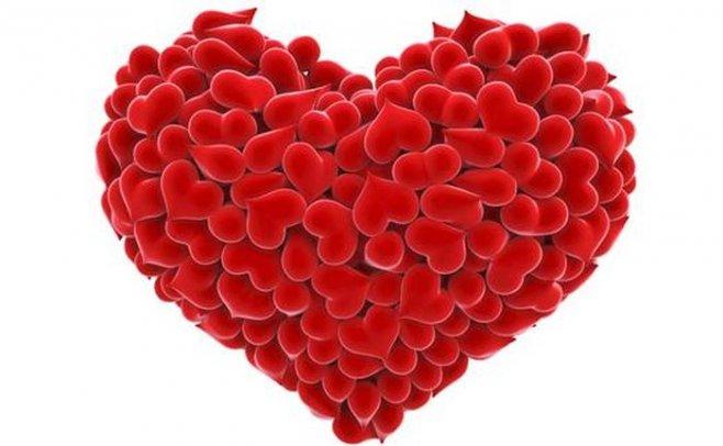 Вариант очень простой и красивой валентинки на День влюбленных