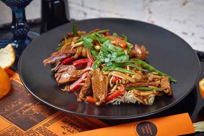 Китайский салат с уткой