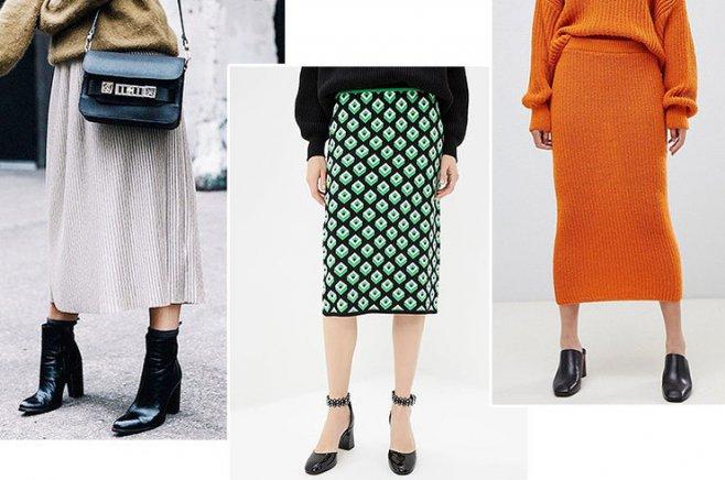 Модные теплые юбки осень-зима 2019