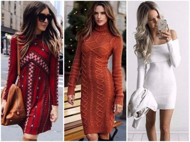 Модные платья на зиму