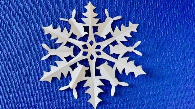 Красивые снежинки из бумаги пошагово