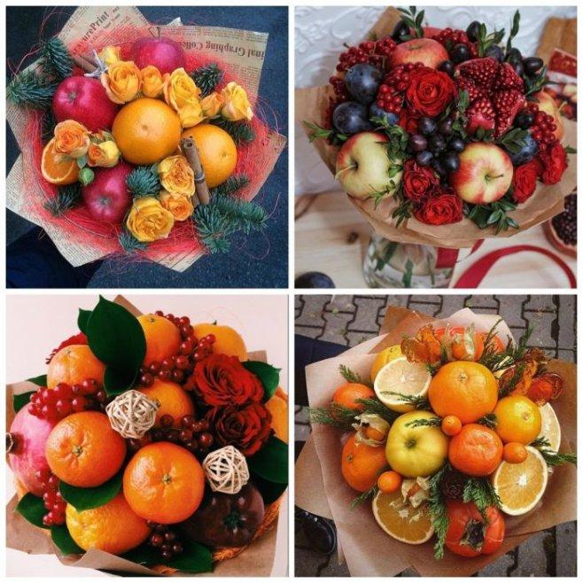 Новогодний букет из мандаринов