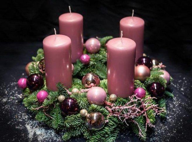 Новогодняя Рождественская свеча своими руками