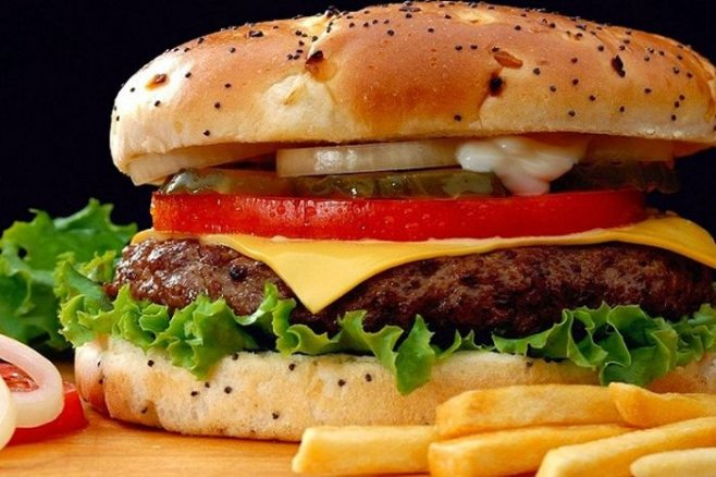 Чизбургер . Домашний фастфуд