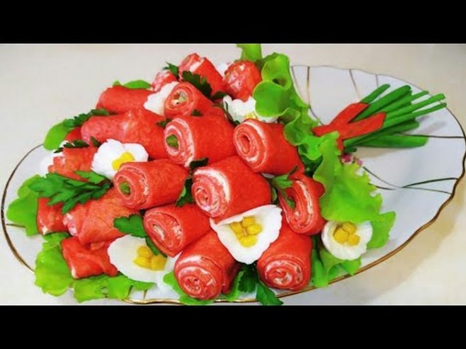 """Салат """"Тюльпаны""""на 8 марта"""