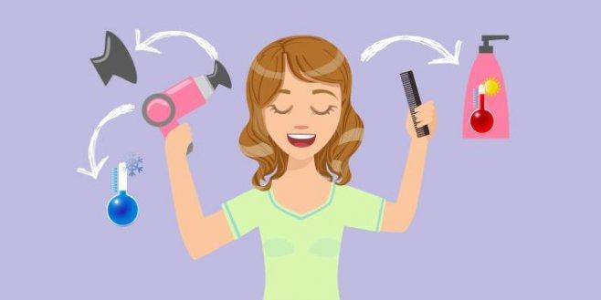 Как правильно сушить волосы феном  дома