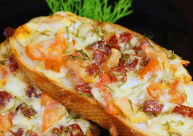 Пицца-бутерброд за 10 минут