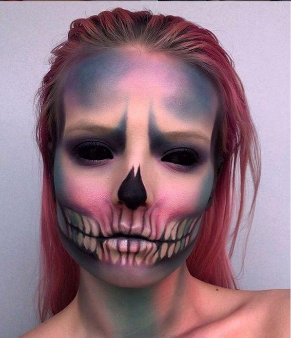 Макияж на Хэллоуин: страшный и красивый грим в домашних условиях